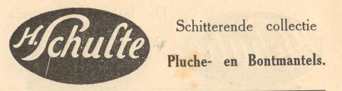 advertentie - H. Schulte - Pluche en bontmantels