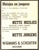 advertentie - Wigmans & Schouten