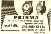 advertentie - Chr Holman & Zn. - Horloger