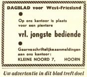 advertentie - Dagblad voor West-Friesland