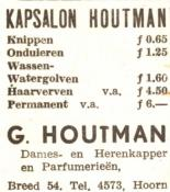 advertentie - Kapsalon  G. Houtman