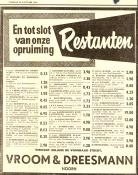 advertentie - Vroom & Dreesman  opruiming