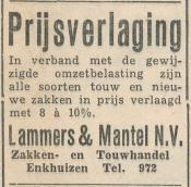 advertentie - Lammers & Mantel N.V.