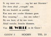 advertentie - H. WILLE